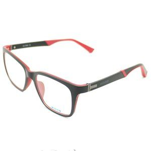 On Deck Oval Style Matte Black/Red Frame